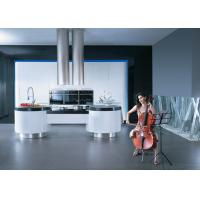 Buy cheap Simple Modern Design Kitchen Cabinets Lacquer Finish With Artificial Stone Top from wholesalers