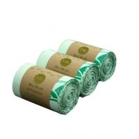 Buy cheap 18Mic PLA PBAT 4Roll/Set Compostable Trash Bags With Box from wholesalers