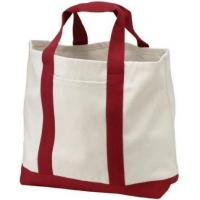 Buy cheap Personalised Cute Cotton Canvas Tote Bag With Pockets , Foldable Tote Bag For Travel from wholesalers