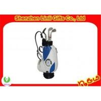 Buy cheap supply 2011 novelty Mini golf pen holder with digital clock gifts PU product