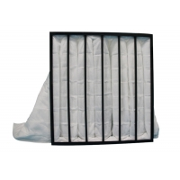 Buy cheap White Pocket Air Filter Plastic Frame With Non Woven Fabrics product