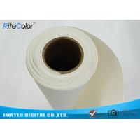 Buy cheap 18M Length Blank Inkjet Cotton Canvas , Pigment Digital Printing Cotton Fabric from wholesalers
