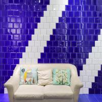 Buy cheap Living Room Colorful Wall Tiles 15X15cm Treasure Blue Ceramic Glazed Wall Tiles product