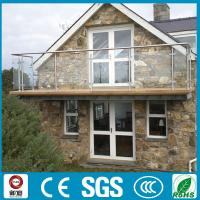 Buy cheap Modern design stainless steel glass balustrade for balcony from wholesalers
