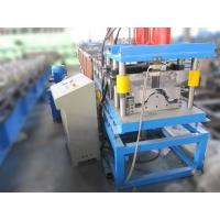 Buy cheap 3T 4KW Ridge Cap Roll Forming Machine Hydraulic Cutting PLC Touch Screen Control from wholesalers