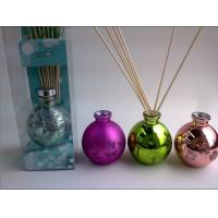 Buy cheap Home Round Glass 100ml Perfume Oil Reed Diffuser Gift Set With Lid product