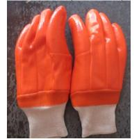 winter use gloves,Fluoresent pvc dipped gloves