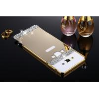 Buy cheap Mirror Phone Cases For Samsung Galaxy A3/A5/A7/A8(2015)Luxury Bling Mirror PC Back Cover Metal Frame Bumper Hard Phone C from wholesalers
