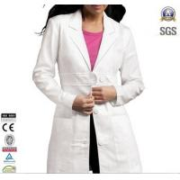 Buy cheap Ladies Lab Coat Custom Workwear Two front patch pockets 100% cotton from wholesalers