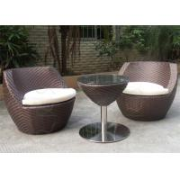 Buy cheap Small Balcony Furniture Stacking Wicker All Weather Outdoor Furniture Vendors from wholesalers