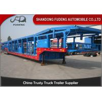 Buy cheap Open Type Tri - Axle Car Carrier Trailer Steel Material Mechanical Suspension from wholesalers