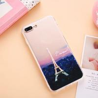 Buy cheap Acrylic Landscape Series Cell Phone Case Back Cover For iPhone 7 6 6s Plus 5s with Dust Plug Lid Lanyard Hole from wholesalers