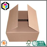 Buy cheap Plain Brown Unprinted Corrugated Packaging Box; Wholesale Plain Shipping Carton product