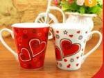 Buy cheap 300Ml temperature sensitive color change ceramic mug / personalised heat sensitive coffee mug from wholesalers