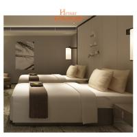 Buy cheap Villa Furniture Hotel Twin Beds Environmental Friendly Lacquer from wholesalers