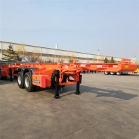 Buy cheap Tri Axle Chassis For 20 Ft Shipping Container Skeleton Trailer from wholesalers