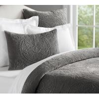Buy cheap KIng and Queen polyester and cotton embroidery grey or white quilts from wholesalers