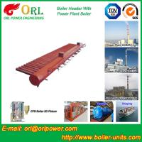 China Condensing Gas Boiler Low Loss Headers , Power Station Heating Header Tank on sale