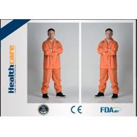 Buy cheap Grey Color Disposable Protective Coveralls One Piece With Durable Zipper For Korean Market from wholesalers