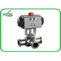Buy cheap Food Grade 3 Way Sanitary Ball Valves  Male / Female Thread , Floating Ball Core Structure from wholesalers