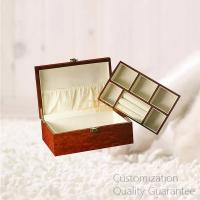 Buy cheap High Gloss Burlwood Men Gifts Wooden Jewelry Box with Ring Rolls, Personalized Logo Brand. product