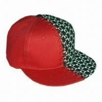 Buy cheap Flat Brim Cap for Men, Customized Logos are Accepted from wholesalers
