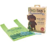 Buy cheap Disposable PE dog poop bag with printing, Pet Compostable disposable biodegradable plastic garbage bag from wholesalers