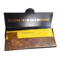 Buy cheap 24K gold paper DIY cigarette rolling papers 45mm x 110mm with glue on backside from wholesalers