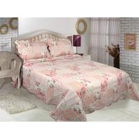 Buy cheap Floral Pattern Printed Quilt Set Microfiber / Cotton Fabric For Bedroom from wholesalers