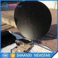 Buy cheap 1.2m carbon fiber automatic portable or flyaway small satellite dish antenna from wholesalers