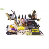 Buy cheap Complete Tattoo Starter Kits With 4 Bottles 5ml Color Ink 2 Tattoo Machine from wholesalers