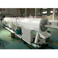 Buy cheap Hdpe / Pvc Plastic Pipe Manufacturing Machine , Capacity 300kg / H Pvc Pipe Extrusion Machine from wholesalers