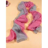 Buy cheap 2013 new fashion pink and gray gradient color Hand Painted Silk Scarf/chiffon scarves shawls from wholesalers