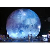 Buy cheap Globe Helium Balloon Printing Inflatable Moon Balloon LED light Planet Earth from wholesalers