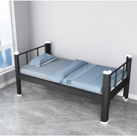 Buy cheap Customized Home Furniture H720mm Metal Single Bed Heavy Duty Single Steel Bed from wholesalers