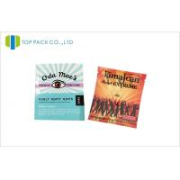 Buy cheap Laminated Herbal Incense Pouches Aluminum Foil Resealable Bags Zipper And Tear Notch product