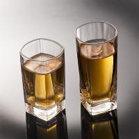 Buy cheap Round Tea Whiskey Glass Cups Square Water Cup CIQ EEC Approved Transparent from wholesalers