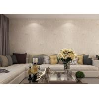 Buy cheap Waterproof PVC Rustic Style Light Yellow Floral Wallpaper For Living Room Walls from wholesalers