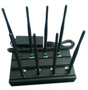Buy cheap Signal jammer | 8 วง GSM / 3G WiFi gps-l1 VHF UHF Jammer 4g-lte สหรัฐอเมริกา product