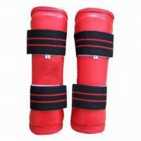 Buy cheap Taekwondo Shin Protector with Velcro Buckle, Shin Guard, Two Adjustable Hook and Loop Straps from wholesalers
