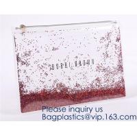 Buy cheap Custom Logo Glitter Cosmetic Makeup Eva Clear Pouch / Pouches,Smiggle Pencil Case With Glitter,Tissue Bag CD Case Docume from wholesalers