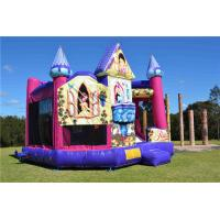 Buy cheap Brightly Color Disney Princess 5 In1 Combo Jumping Castle For Amusement Park from wholesalers
