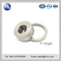 Buy cheap coating material Dia 300 mm high Purity 99.99% titanium Ti target from wholesalers