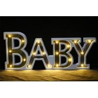 Buy cheap large party decoration free standing woody letter lights from wholesalers