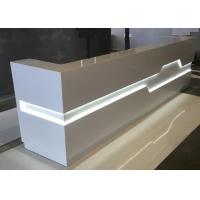 Buy cheap White Matt Color Retail Checkout Counter With LED Light Inside OEM / ODM Service from wholesalers