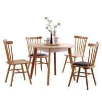 Buy cheap European Modern Ash Wood Round Dining Table Set from wholesalers