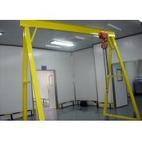 Buy cheap Mobile 5 Ton Single Beam Gantry Crane Electric Hoist With Hook For Cargo Lifting from wholesalers