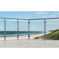 Buy cheap Clear Tempered Glass Balustrade With Stainless Steel Accessories from wholesalers