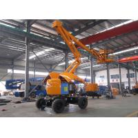 Buy cheap 16 Meter 2WD Articulated Hydraulic Boom Lift With 230kgs Capacity 180 Return Platform from wholesalers