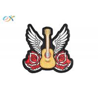 Buy cheap Biker Jacket Design Machine Embroidery Patches	 Clothes Logo Rose Guitar Patterns from wholesalers